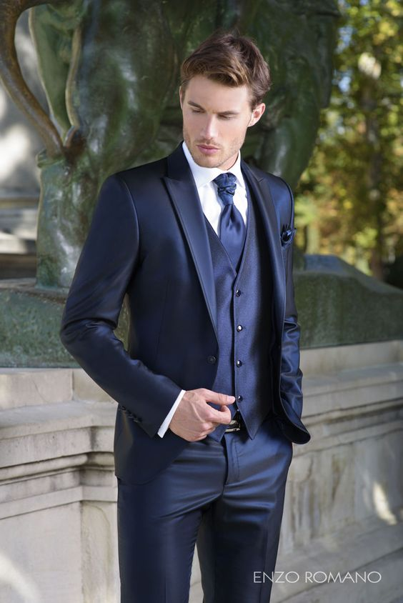 trajes de novio azul marino